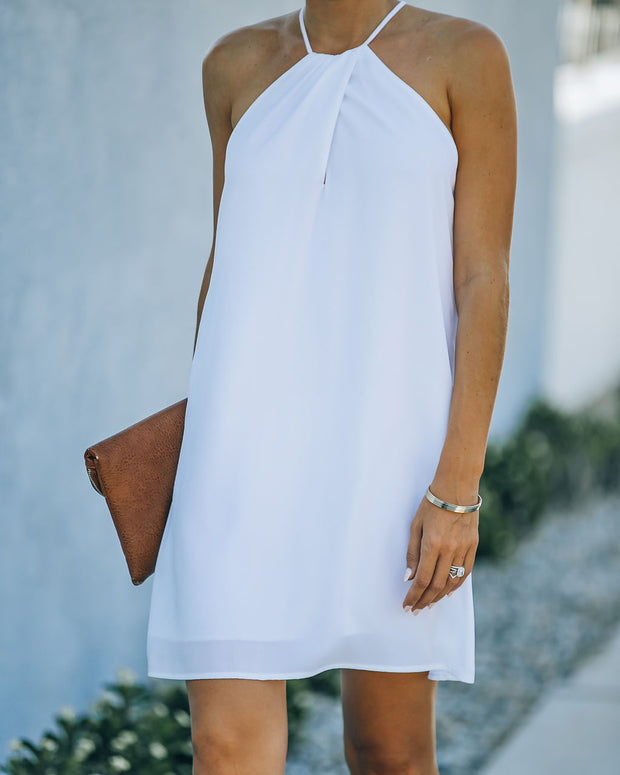 Carefree Living Halter Dress - White view 3