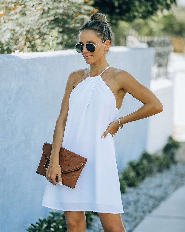 Carefree Living Halter Dress - White view 9
