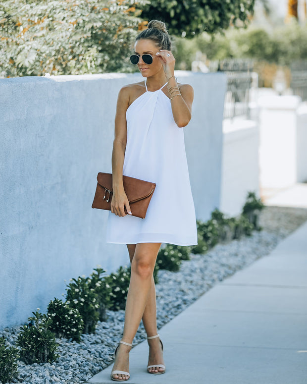 Carefree Living Halter Dress - White view 10