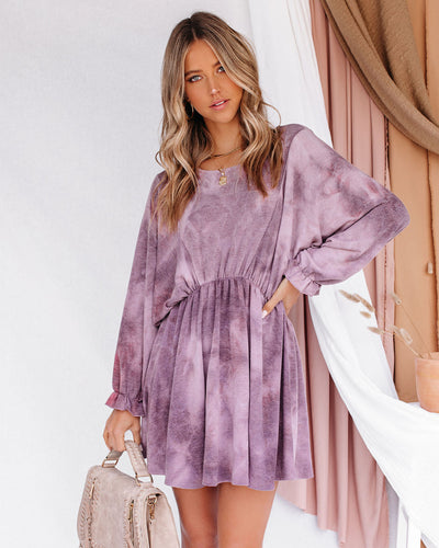Alexis Tie Dye Dolman Knit Dress
