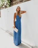 Asana Aztec Maxi Dress - Blue