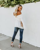 Ascension Smocked Off The Shoulder Top - White