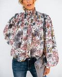 Aaliyah Floral Blouse - Ivory
