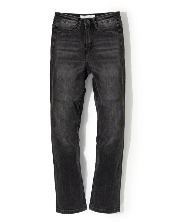 Aaron High Rise Straight Leg Denim