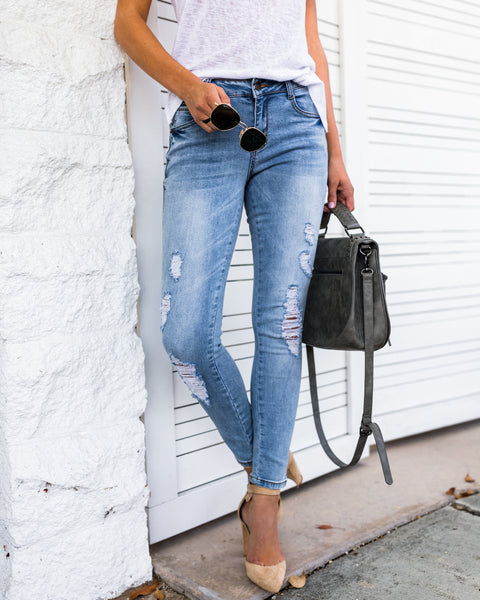 Abby Distressed Skinny - FINAL SALE