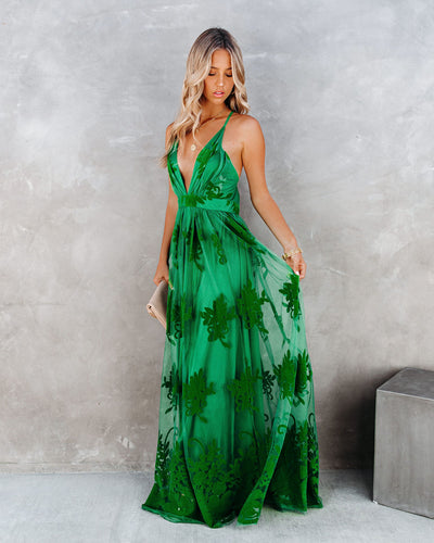 Antonia Maxi Dress - Kelly Green