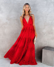 Antonia Maxi Dress - Red