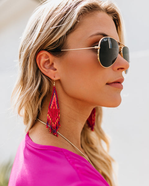 Ashara Beaded Tassel Earrings