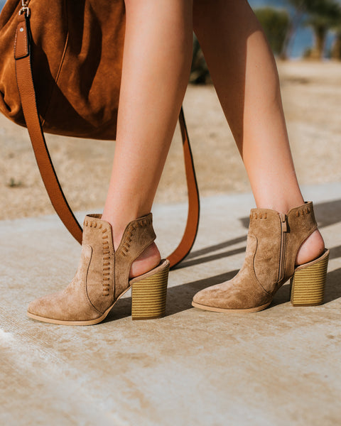 Aspen Faux Suede Bootie - Taupe