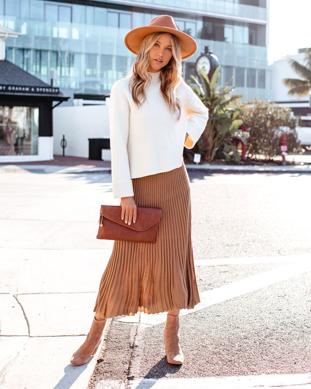 At The Moment Knit Midi Skirt