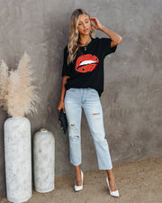 Awestruck Cotton Red Lips Tee