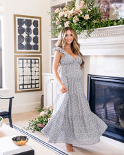 Botanic Floral Tiered Maxi Dress view 1
