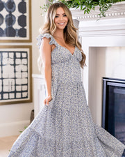 Botanic Floral Tiered Maxi Dress view 6