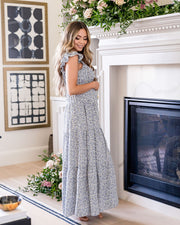 Botanic Floral Tiered Maxi Dress view 10