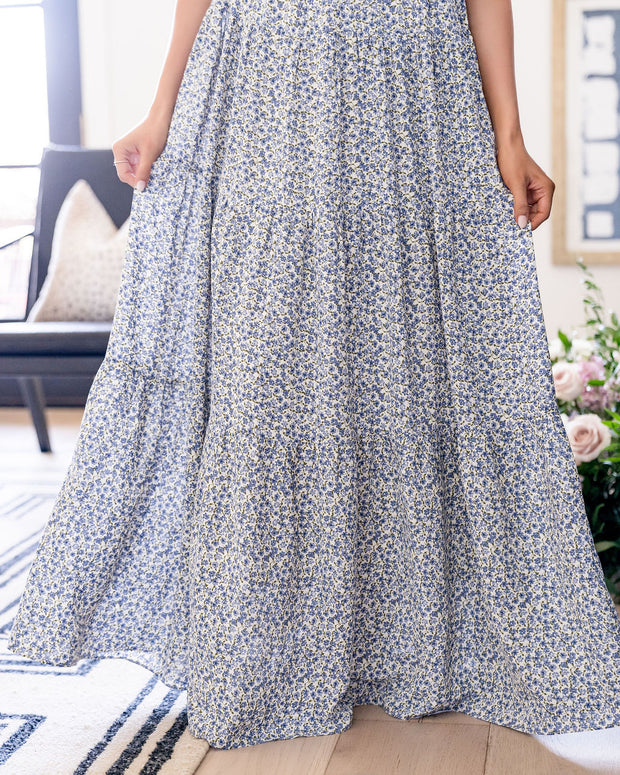 Botanic Floral Tiered Maxi Dress view 9