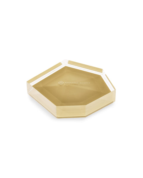 KENDRA SCOTT - Faceted Ring Dish - Brass