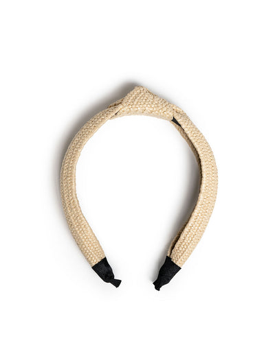 Bay Raffia Twist Headband