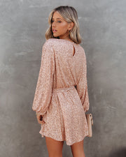 Be A Doll Sequin Tie Dress - Rose Gold - FINAL SALE view 5