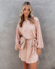 Be A Doll Sequin Tie Dress - Rose Gold - FINAL SALE view 1