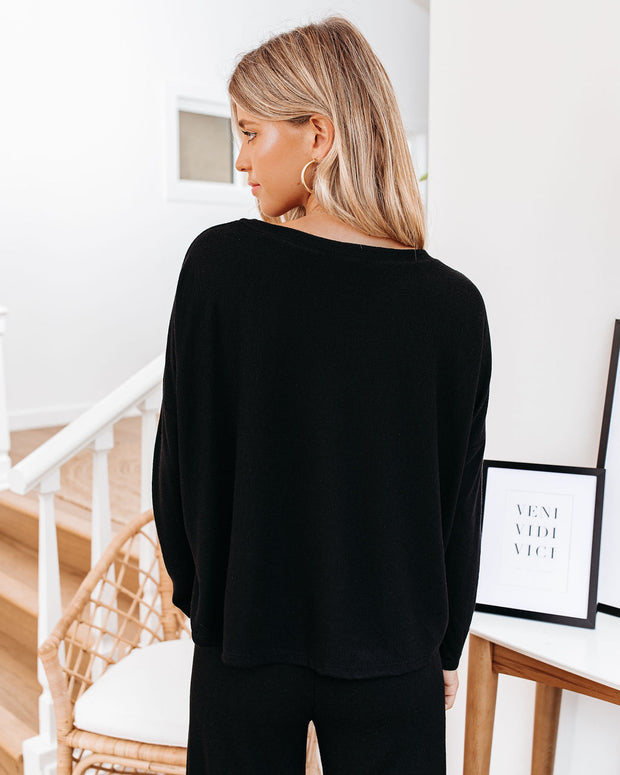 Beauty Sleep Relaxed Knit Top - Black