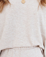 Beauty Sleep Relaxed Knit Top - Oatmeal