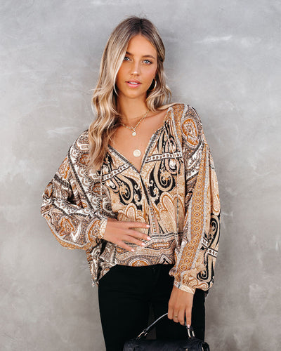 Bennie Paisley Shimmer Blouse