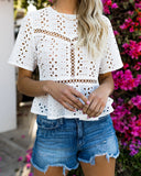 Bianca Cotton Eyelet Top - FINAL SALE