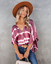 Bigger Love Tie Dye Button Down Kimono Top
