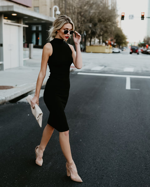 She's All That Midi Dress - Black
