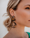 PREORDER - Geo Deco Tortoise Earrings