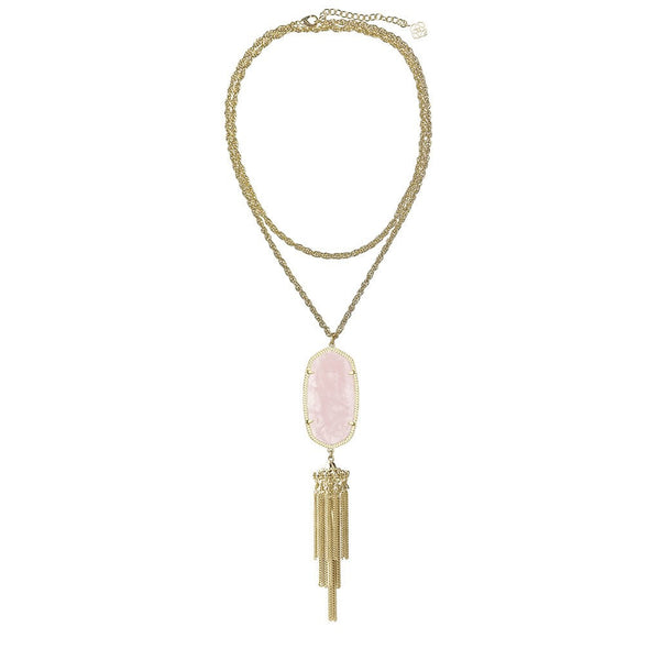 KENDRA SCOTT - Rayne Gold Necklace in Rose Quartz