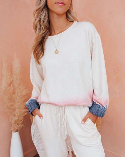 Bodhi Cotton Blend Ombre Pullover