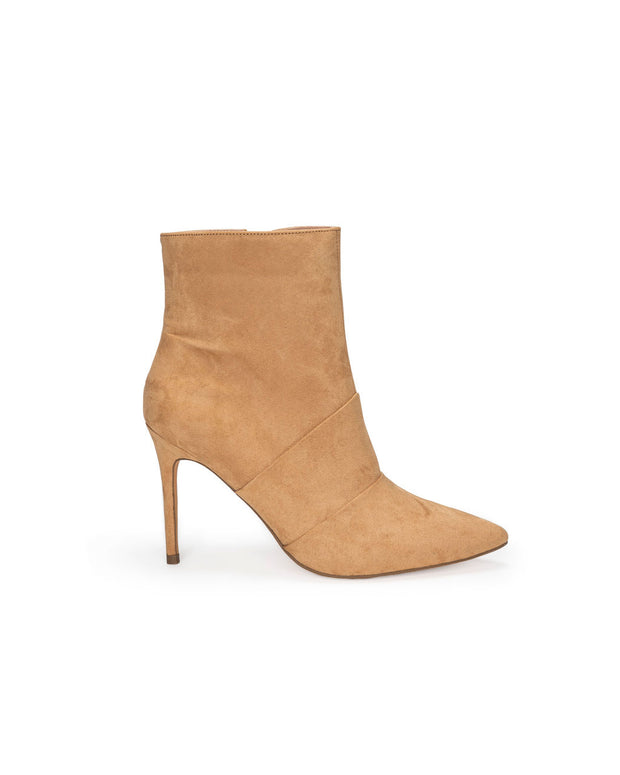 Britt Faux Suede Heeled Bootie - Camel view 1