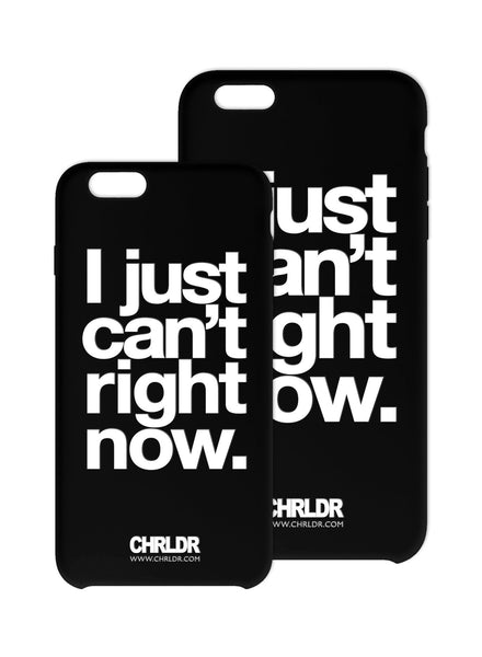 I Just Can't Right Now iPhone Case - FINAL SALE