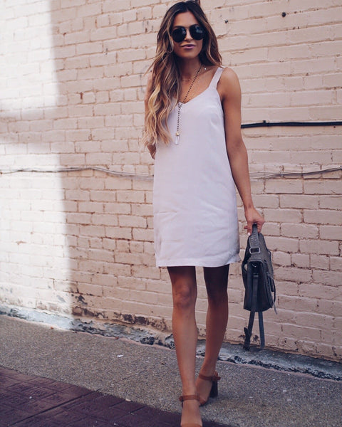 New York State Of Mind Tank Dress - Taupe