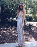 Indio Striped Halter Jumpsuit