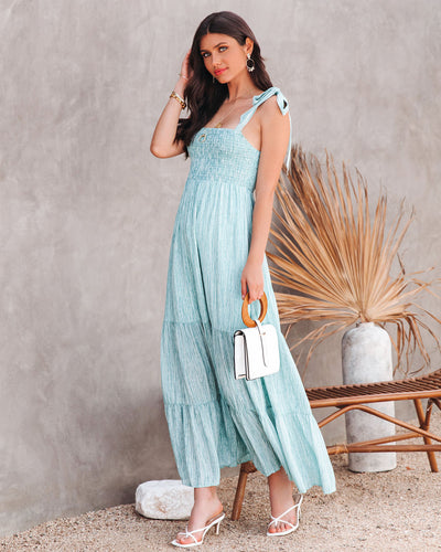 Cadence Smocked Tiered Maxi Dress