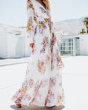 Calico Rose Floral Maxi Dress - Ivory