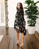 Gables Floral Tunic - Black