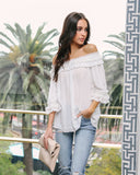 Frill Seeker Off The Shoulder Top - FINAL SALE