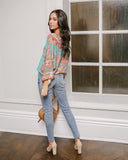 Gloria Printed Drape Blouse