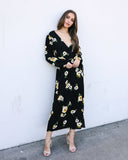 Send Me Flowers Wrap Dress