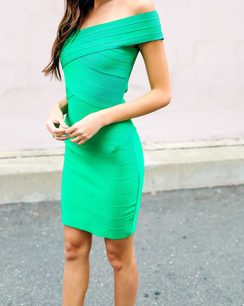 Watch For Curves Bodycon Dress - Kelly Green