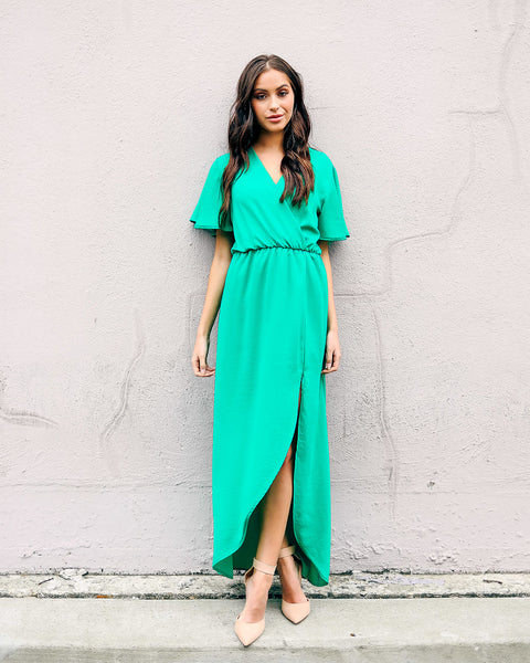 Ethereal in Emerald Maxi Dress