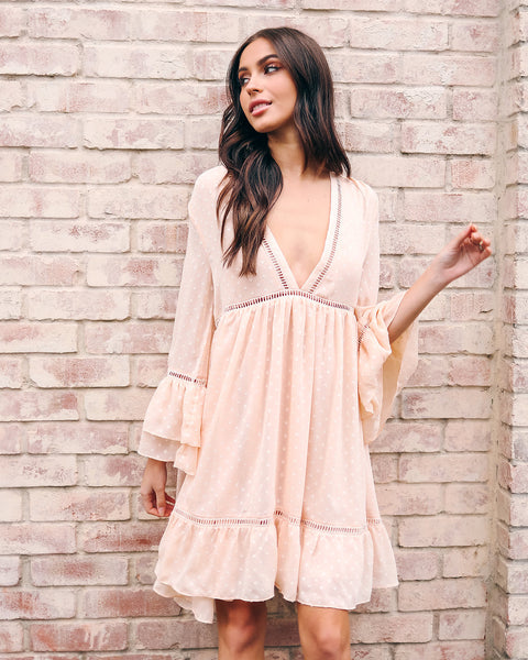 Real Romance Swing Dress - Blush