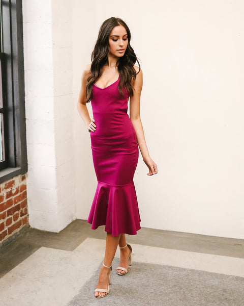 Dance Till Dawn Dress - Magenta - FINAL SALE