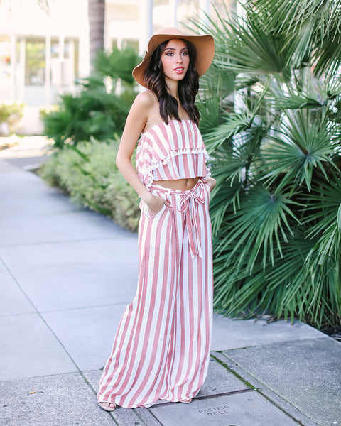 Liselle Striped Tassel Top - FINAL SALE