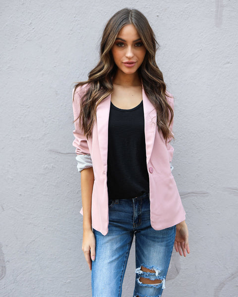 Suits Me Pocketed Blazer - Dusty Pink - FINAL SALE