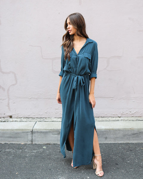 Continental Dress - Teal