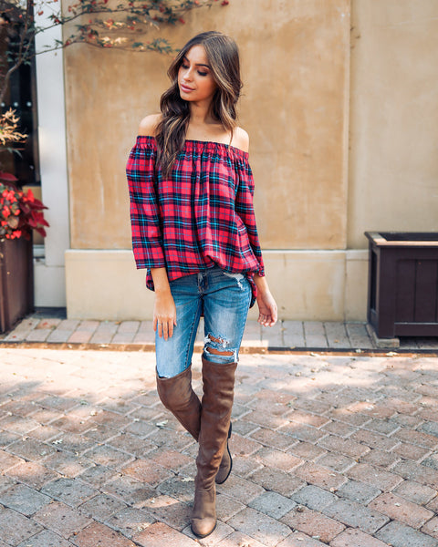 Plaid With My Heart Top